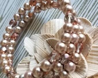 Memory Wire Bracelet,  Coil Bracelet, Wrap Bracelet, Mocha/Smoke Bracelet, Bangle Bracelet, Cuff Bracelet