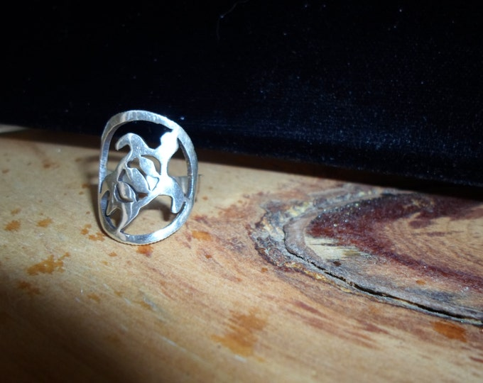 sea turtle ring quarter size