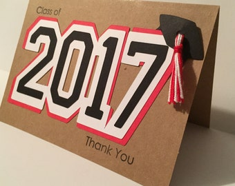 Graduation Thank You Cards. Handmade, Stylish, Unique and a great keepsake!