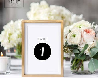 Printable table numbers set - Moore collection