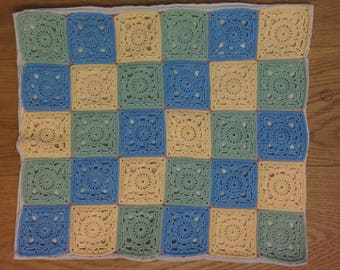 Pillow case with crochet