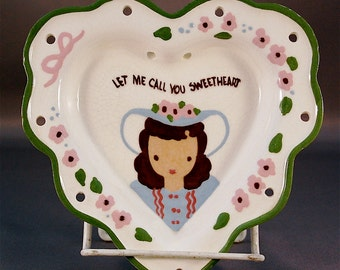 "CLEMINSON of CALIFORNIA wall hanging heart ""Let Me Call You Sweetheart"""