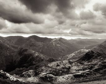 Black and White. Landscape Photography. Mountain. Nature. Scotland. B&W