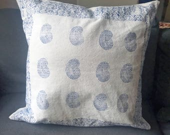 Custom Hand Block Print Pillow