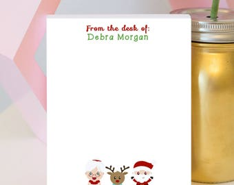 Mr. and Mrs. Claus Notepad - Christmas Notepad - Santa Claus - Santa Gift - Winter Notepad - Stocking Stuffer - Personalized Notepad