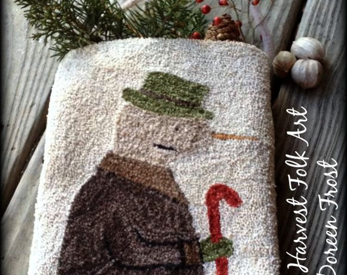 Pattern: Winter In Woodstock Punch Needle by Doreen Frost for Vermont Harvest Folk Art