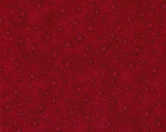 Starry Basics- Red Stars by Henry Glass- 100% Cotton Premium Quilting Fabric