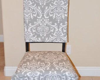 Esszimmer Stuhl Umfasst Rustikale Indigo Sitzfläche Blau Grau Und Weiß,  Kissen, Zweiteilige Stuhlhussen,