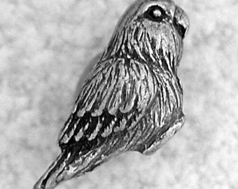 Green Girl Studios Kiwi Love Bird Pewter Bead