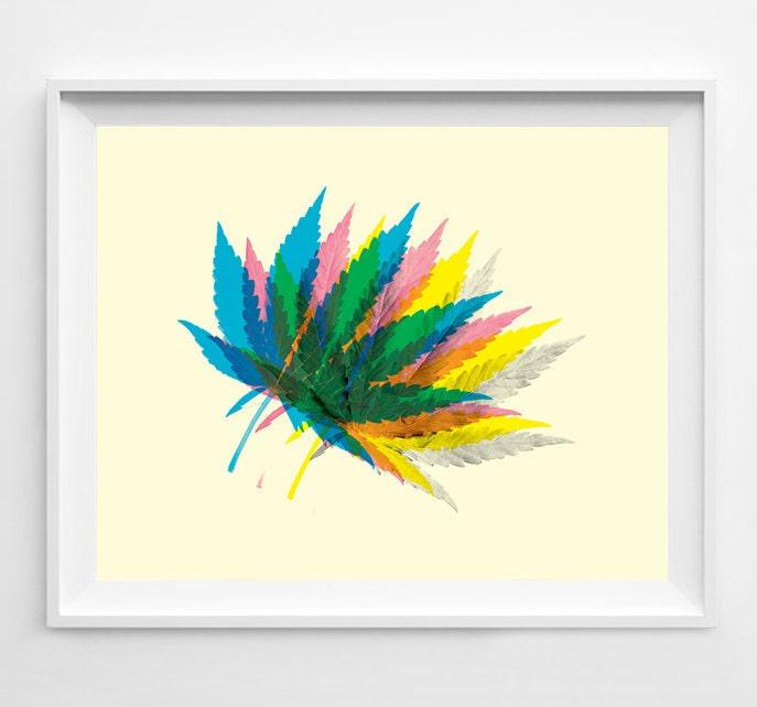 Marijuana Weed Art Weed Poster Pot Leaf Pot Leaf