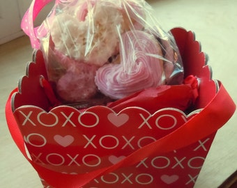 Heart Cookie Soap Gift Assortment - Valentines Day - Valentines Day Soap - Cookie Soap - Food Soap - Mother's Day - Fake Food - Gift for Her