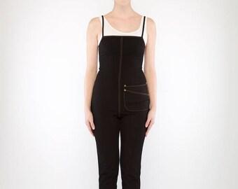 Freeway Denim Jumpsuit (Black)