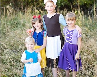 Practical Princess PDF Knit Dress Sewing Pattern / Knit Dress Pattern / Girls Dress Sewing Pattern / Princess Dress Pattern / Princess PDF