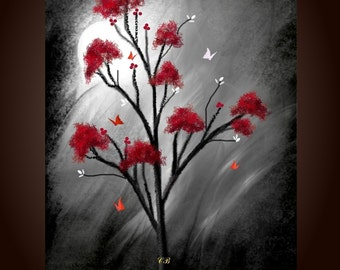 Abstract Landscape Art Print- Butterfly Dreams. Free Shipping inside US.