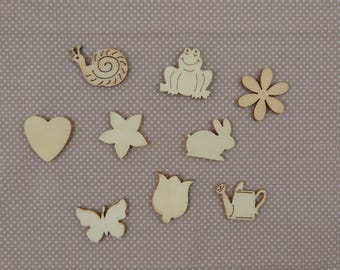 Wooden subjects embellishment: spring