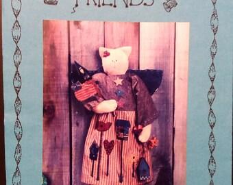 Homespun Friends Liberty Cat Doll Sewing Pattern