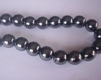 50 5 mm Hematite beads - beads AIMANTEES - magnetic Hematite beads