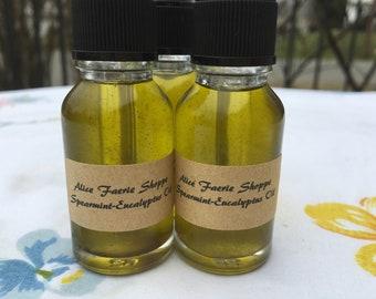 Spearmint-Eucalyptus Herbal Oil - 15ml Clear Dropper