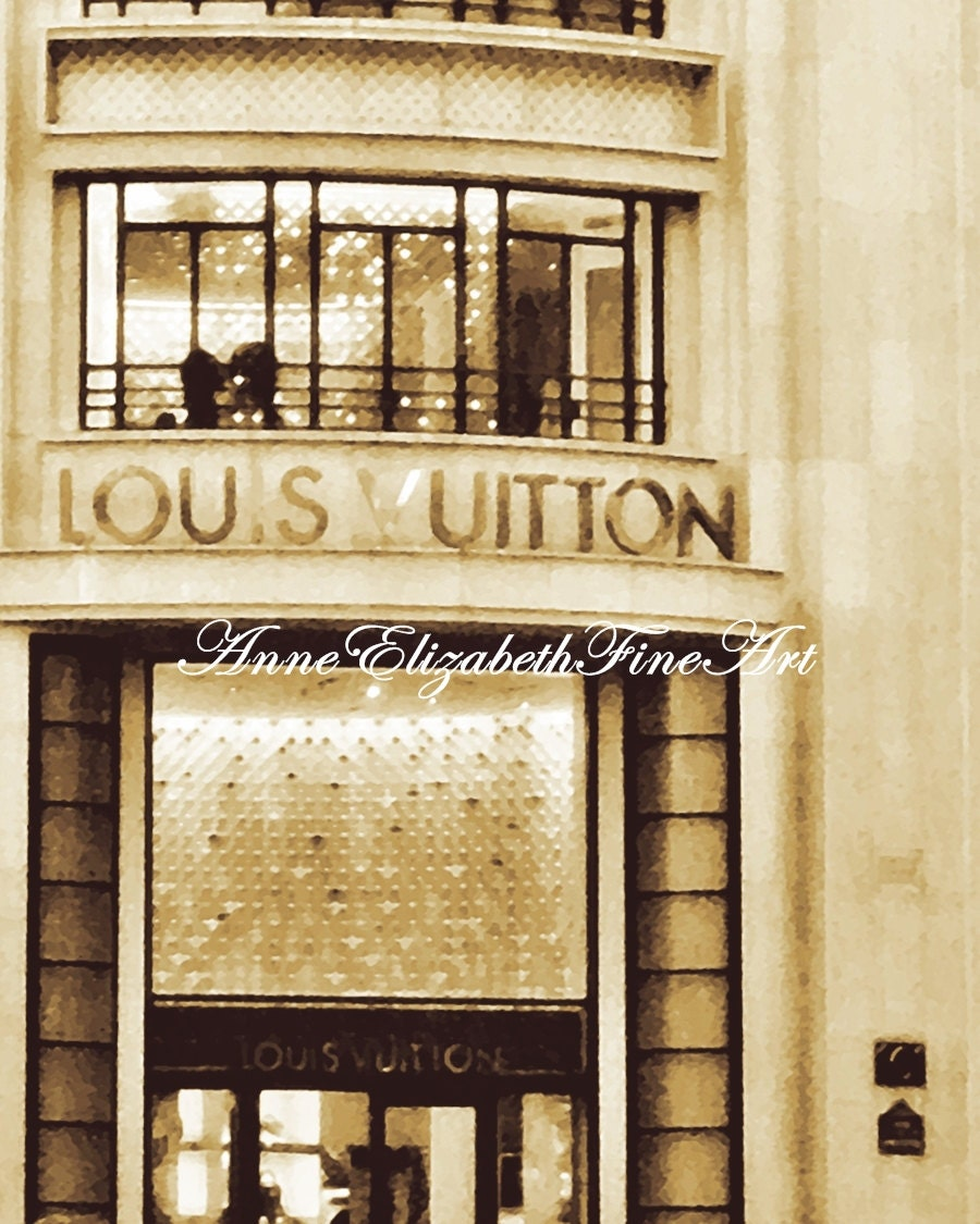 Paris Photography Louis Vuitton Art Boutique Fashion Print