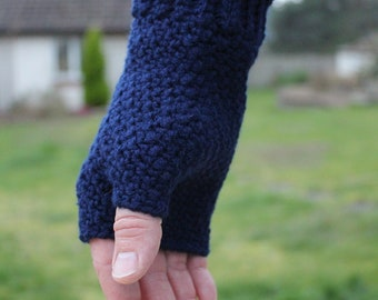 Hand Warmers | Ladies' or Gents' Fingerless Gloves | Crochet Wrist Warmers