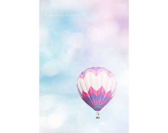 Hot Air Balloon Photography Dreamy Photography Nursery Decor Pink Art Carnival Photography Pastel Balloons Landscape Photography