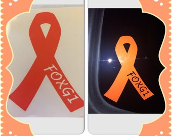 FOXG1 Awareness Ribbon Decal.