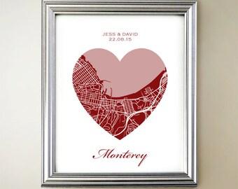 Monterey Heart Map