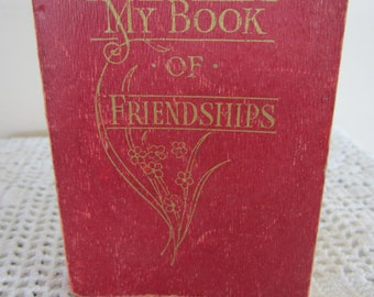 Antique Small Book My Book of Friendships Bible Quotes for the Year