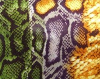 """Reptile Rainbow 100% Rayon Challis  Fabric  44"""" Wide Sold by the Yard"""