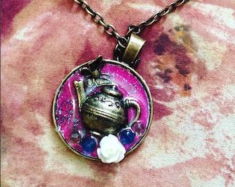 Sweet Lolita Little Teapot Resin Necklace