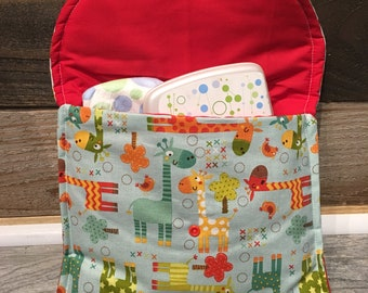 Diapers & Wipes clutch