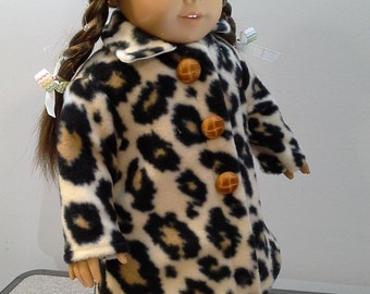 Fleece Animal Print Coat-American Girl Doll-18 Inch Doll