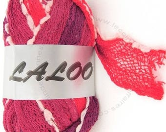 WOOL RUFFLES WITH TASSEL LALOO4 100GR RED / MAROON 21