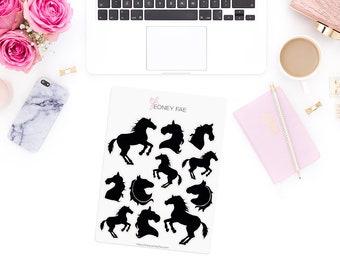 Shadow Horses Stickerset-Watercolour sticker-Pretty planning-scrapbooking-bullet journaling