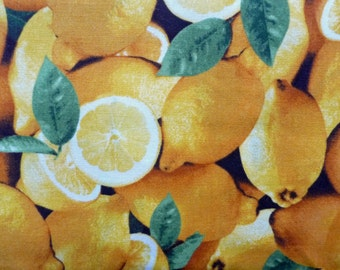 Lemon Fabric, Fruit Fabric, Farmers Market RJR Fabrics, Fruit Quilt Fabric, Kitchen Fabric, Apron Fabric, Food Fabric, Cotton, Fat Quarter