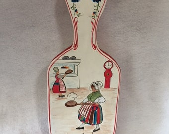Swedish painting on wood bread board
