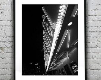 Fremont Street Las Vegas Black and White Wall Art Photography Poster Print