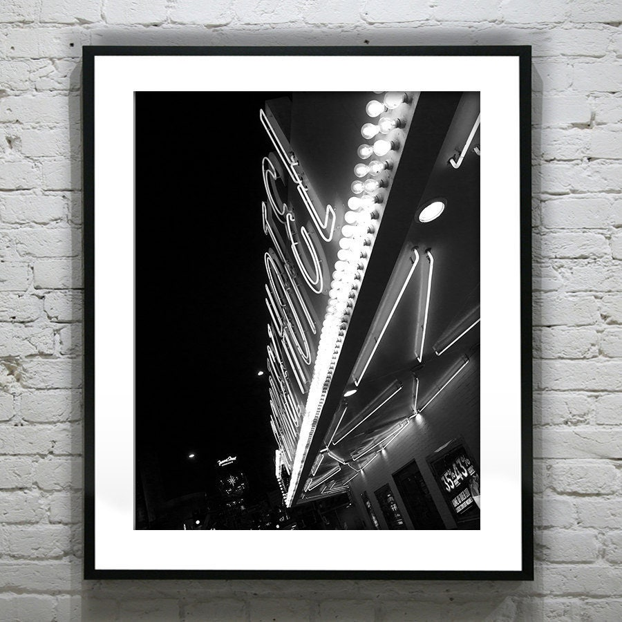 Fremont Street Las Vegas Black and White Wall Art Photography Poster ...