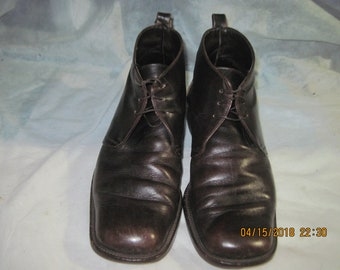 Vintage Joan & David Brown Leather Lace Up Ankle Boots SZ 10