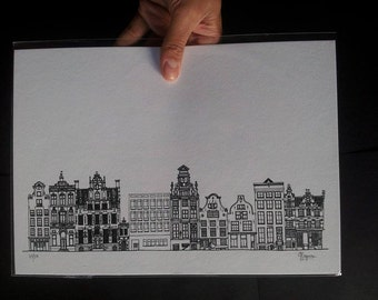 Amsterdam Architecture Drawing