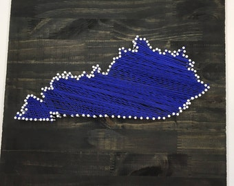 Kentucky Wildcats State String Art