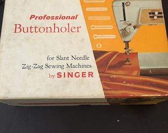 Vintage Singer buttonholer...free shipping !!
