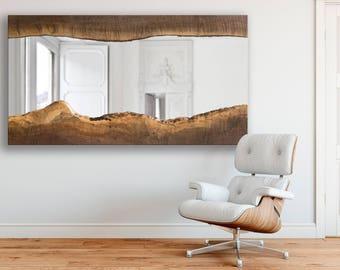 CUSTOM - Black Walnut Live Edge Wood Mirror - Modern - Wood Mirror - Minimalistic - Charming - BOHO
