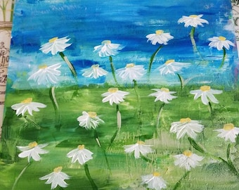 Daisy Field Painting