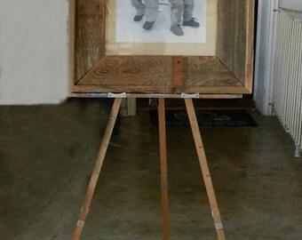 Vintage BUMPODO Distressed Adjustable OLD Wood Painters Display Easel