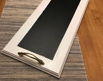 Serving Tray With Chalkboard finish