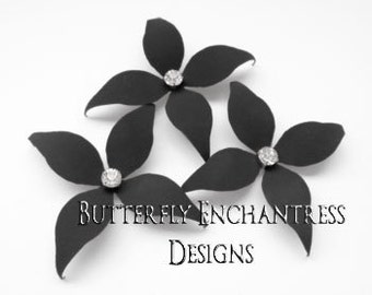 Gray Wedding Hair Flowers, Bridal Hair Accessories, Wedding Bridesmaid Gift - 3 Charcoal Grey Wynn Flower Hair Pins