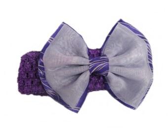 Baby Girl Headband, Toddler Headband, Baby Bows, Baby Head Bands, Babies Headband, Newborn Headband, Purple BowHeadband
