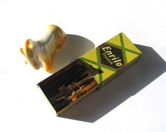 Vintage surrogate coffee bag Tin Box - Retro  Metal Box with Slide Lid - vintage nibs