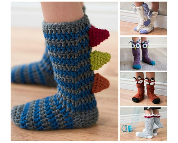 Animal Socks Crochet Pattern Collection Crochet Pattern For